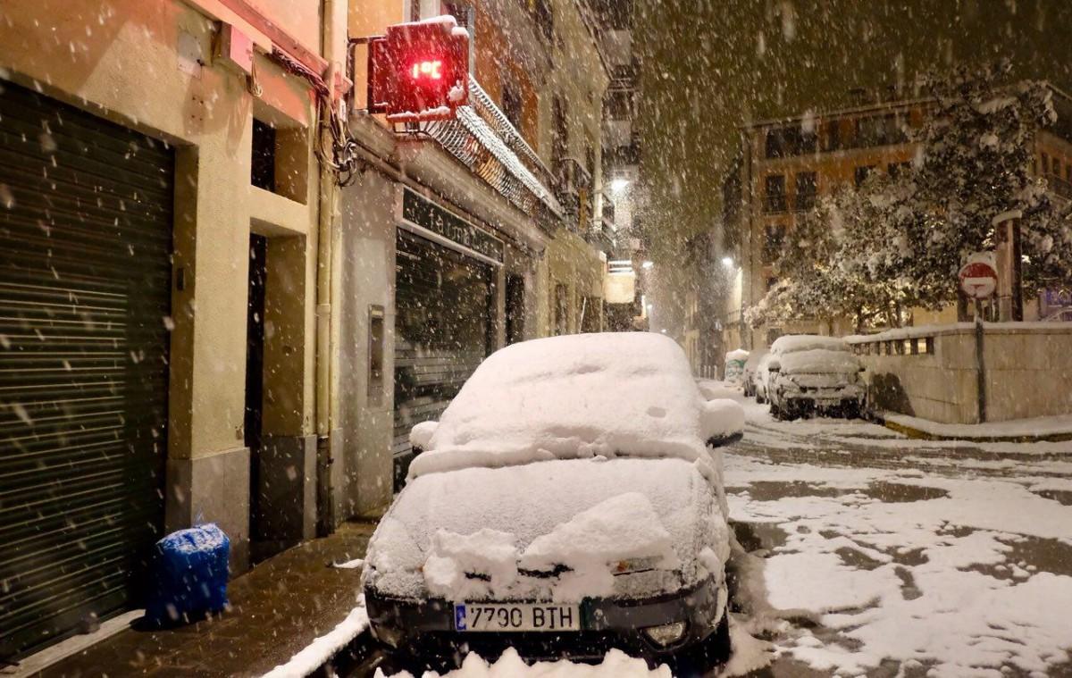 Intensa nevada aquesta nit a Osona
