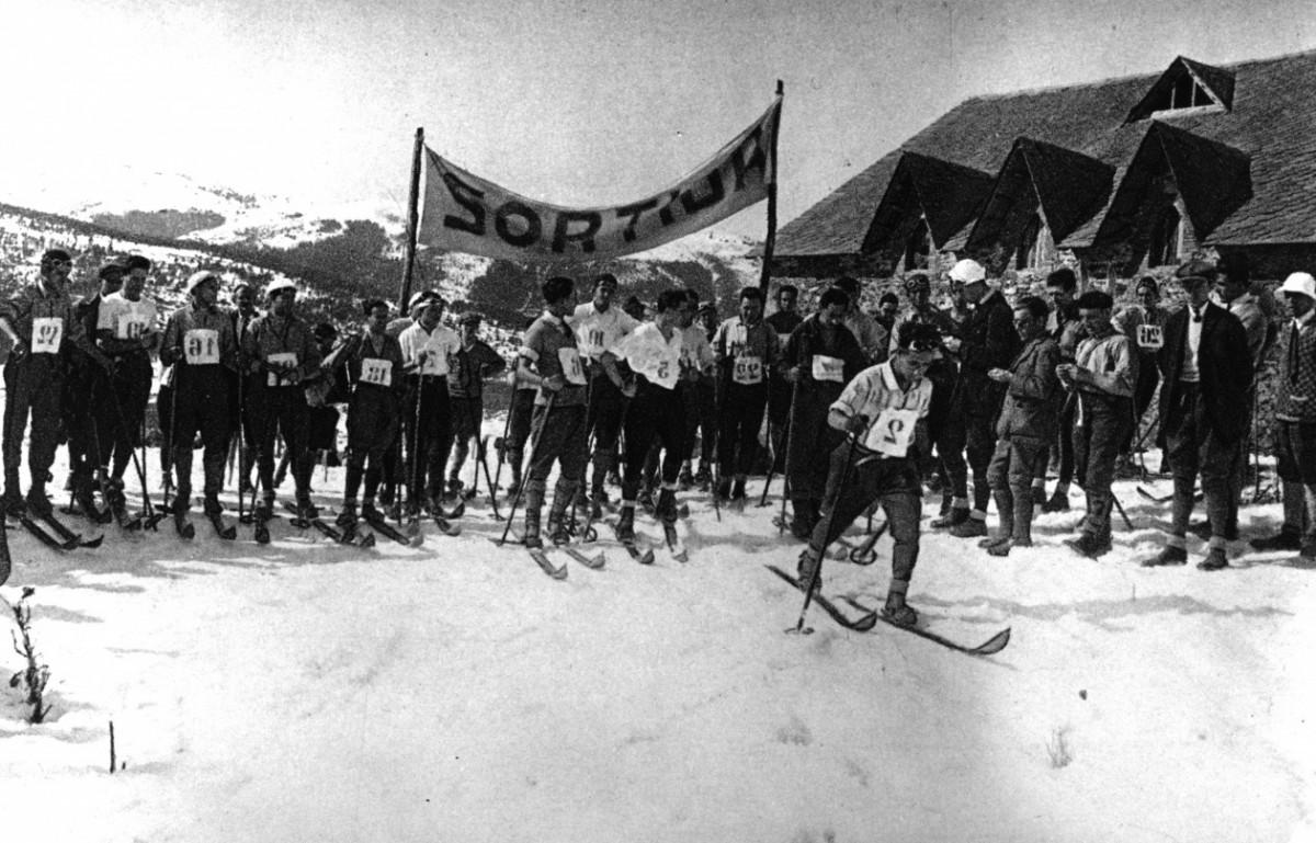 Imatge històrica de La Molina, que enguany celebra el 75è aniversari.