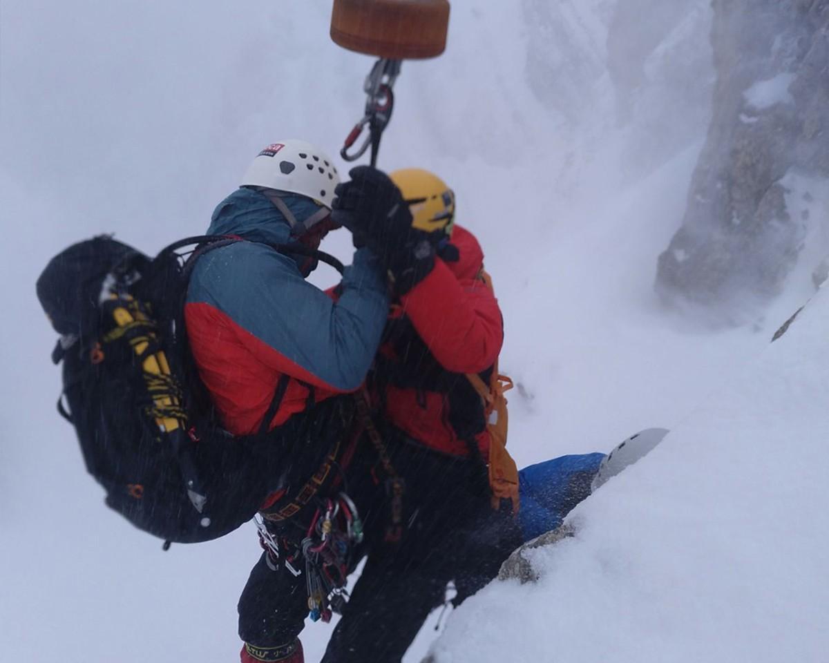 Tres alpinistes rescatats a la canal de l'Ordiguer del Cadí per la trencadissa d'una placa