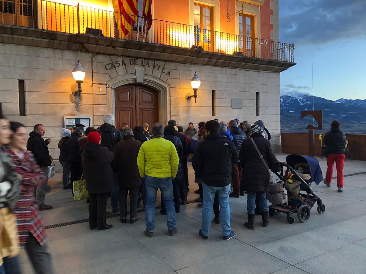 La concentració d'avui divendres a Puigcerdà