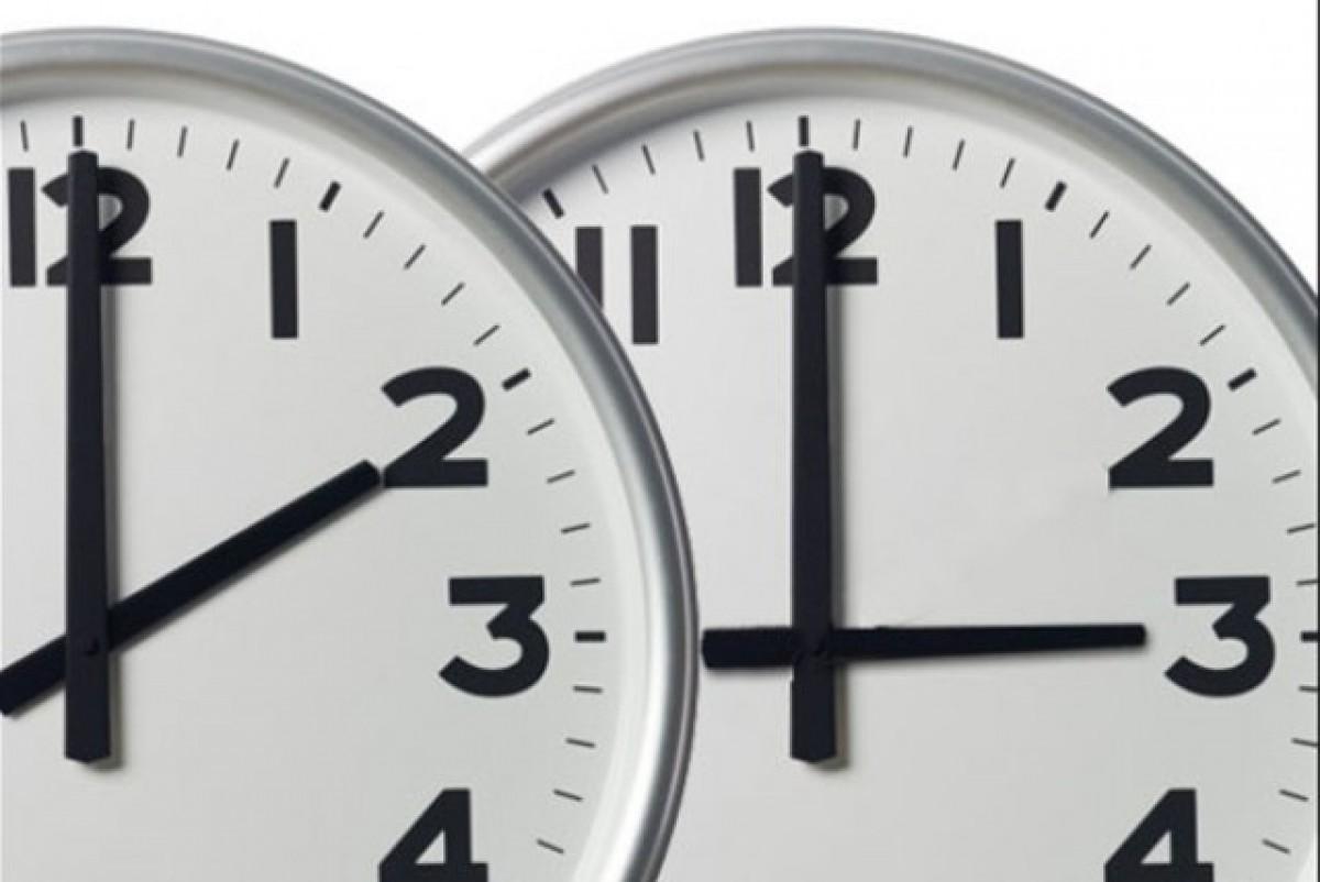 A les 2 de la matinada les agulles s'avançaran fins a les 3