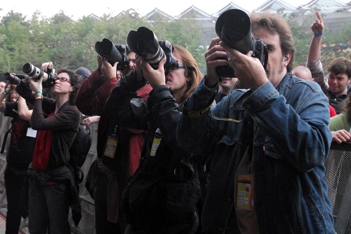 Fotògrafs al festival Primavera Sound