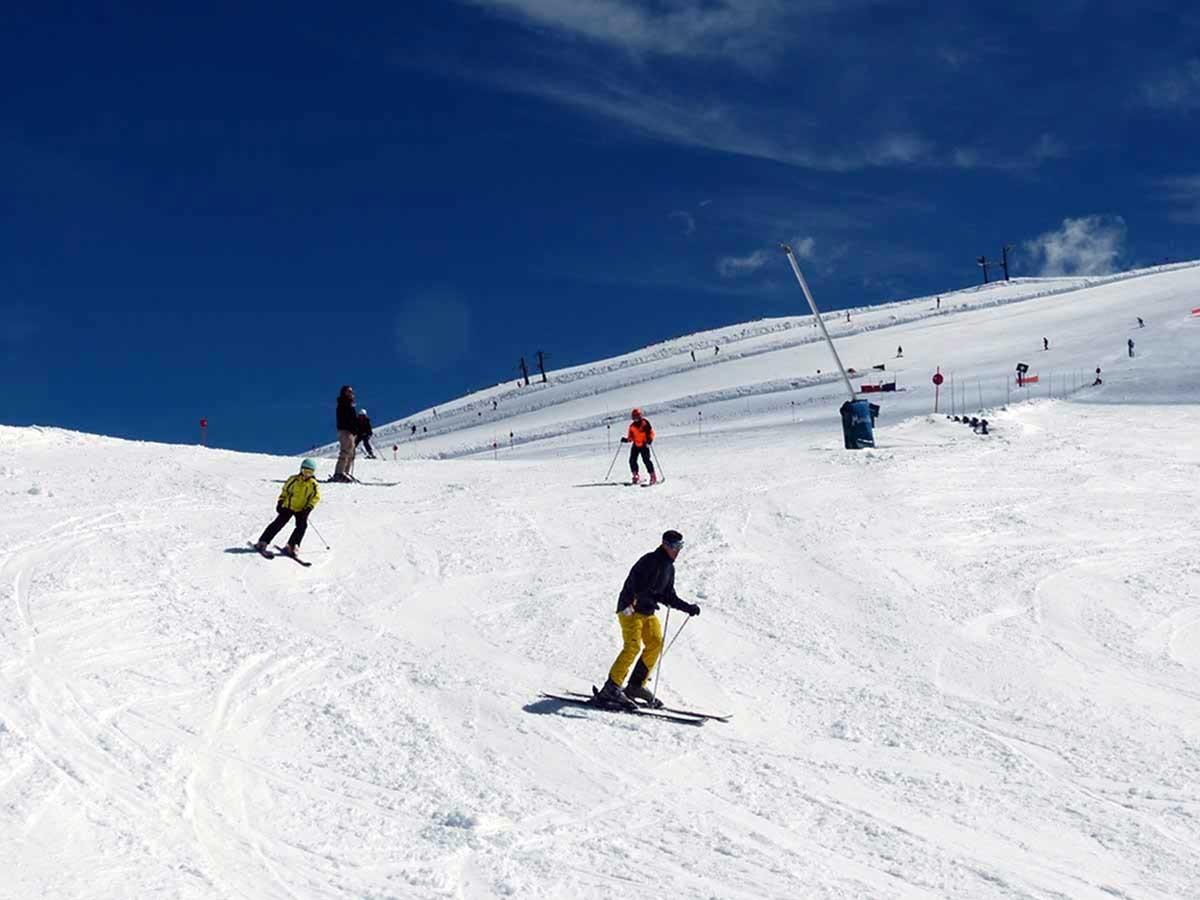 Esquiadors ahir a Masella