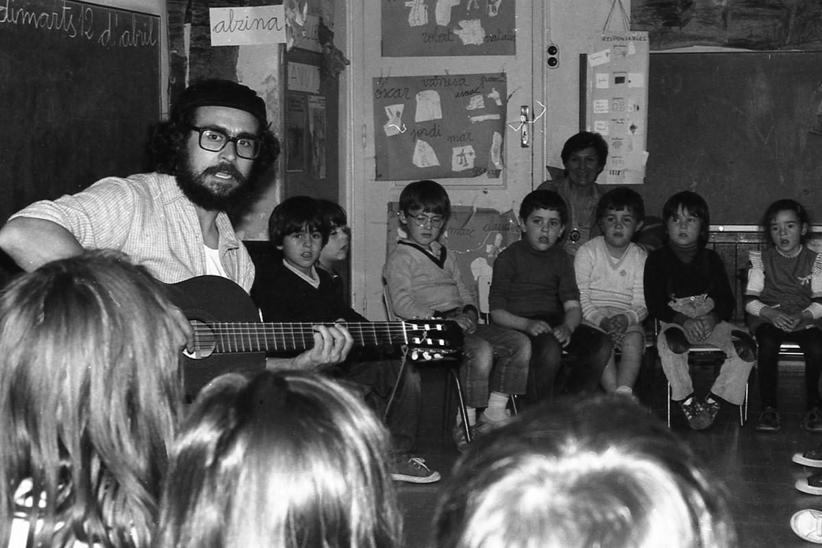Xerco Boix a l'Escola del Mar (Barcelona), l'any 1983