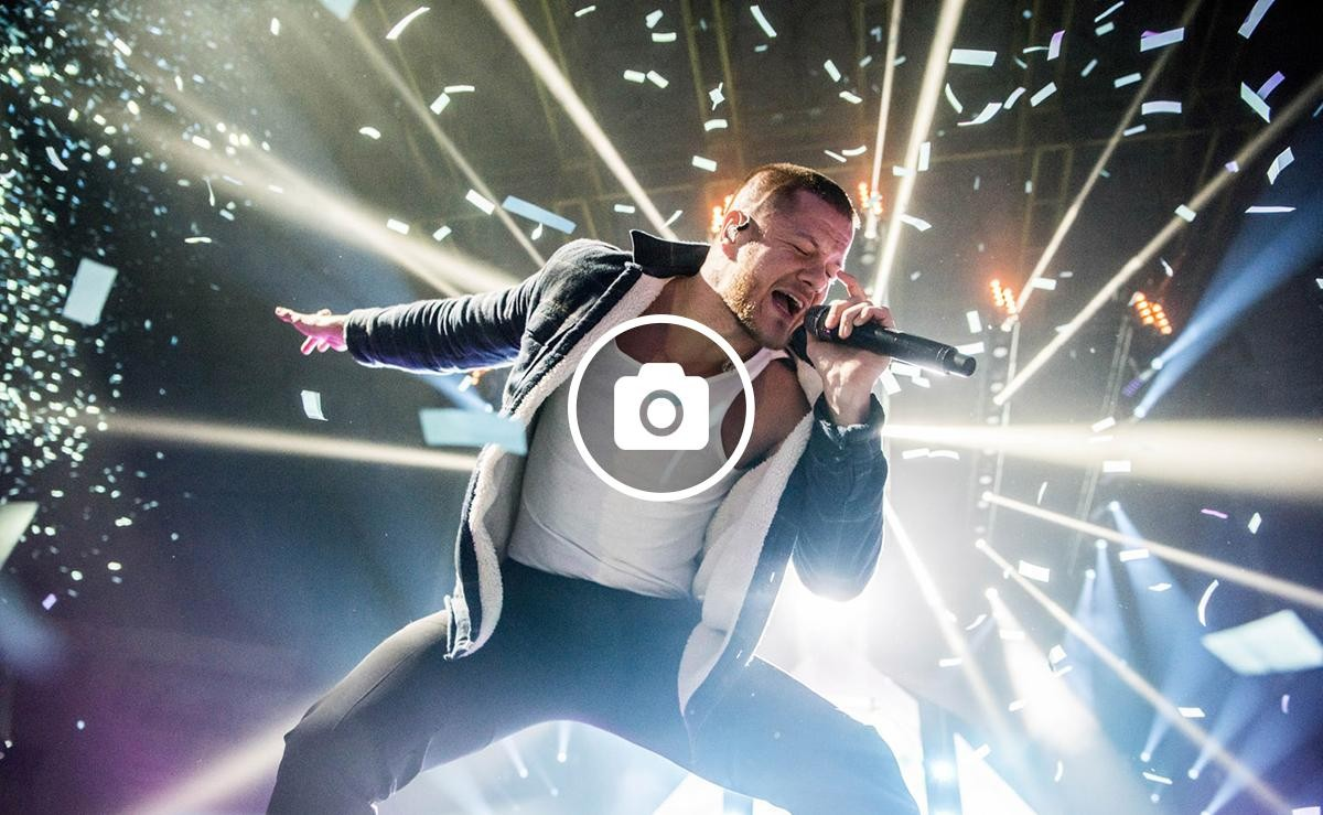 La banda estatunidenca Imagine Dragons en concert