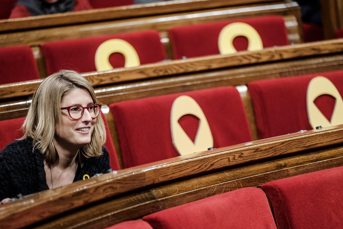 Elsa Artadi, durant un ple del Parlament
