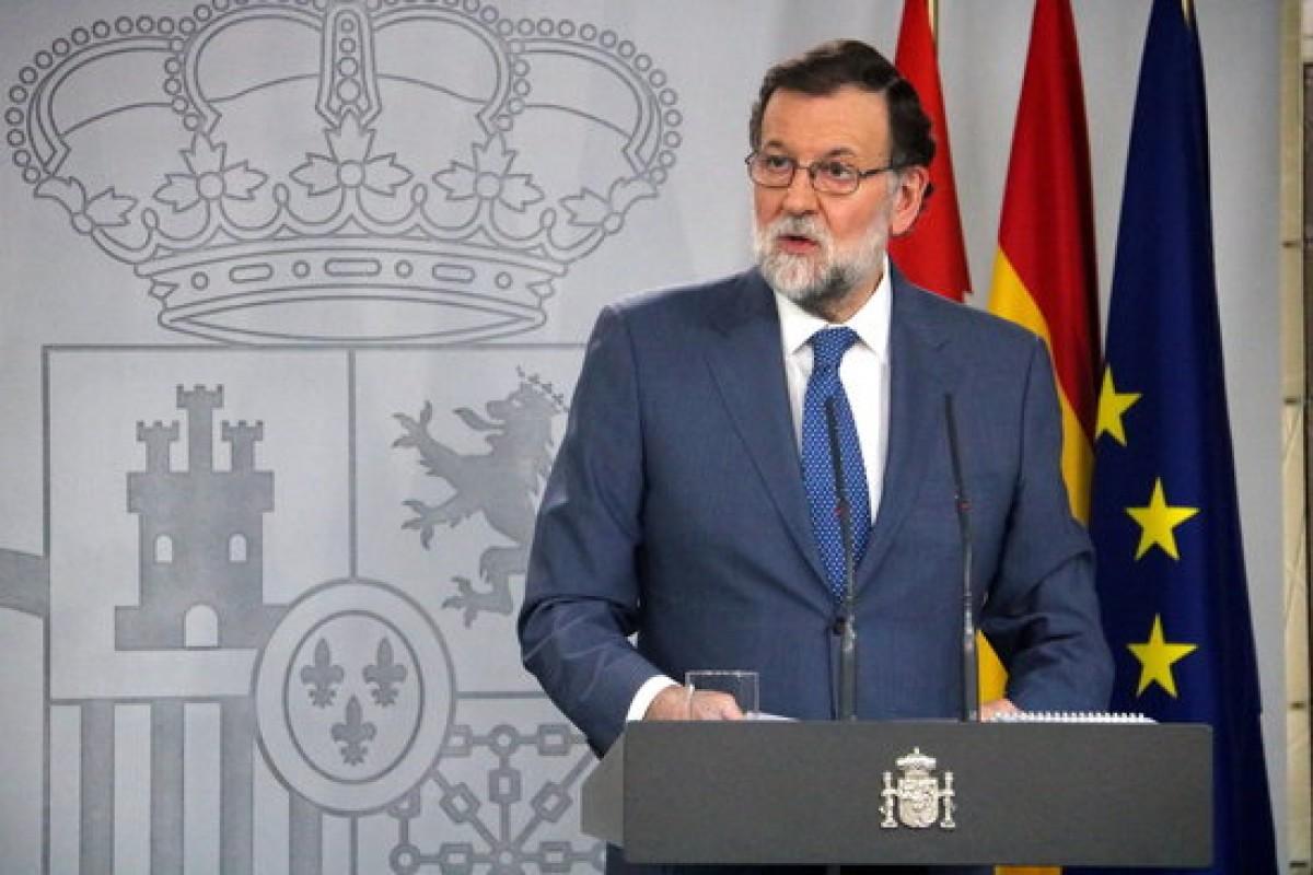 Mariano Rajoy en roda de premsa aquest divendres