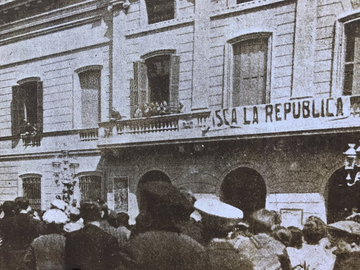 Proclamació de la República catalana a Sabadell.