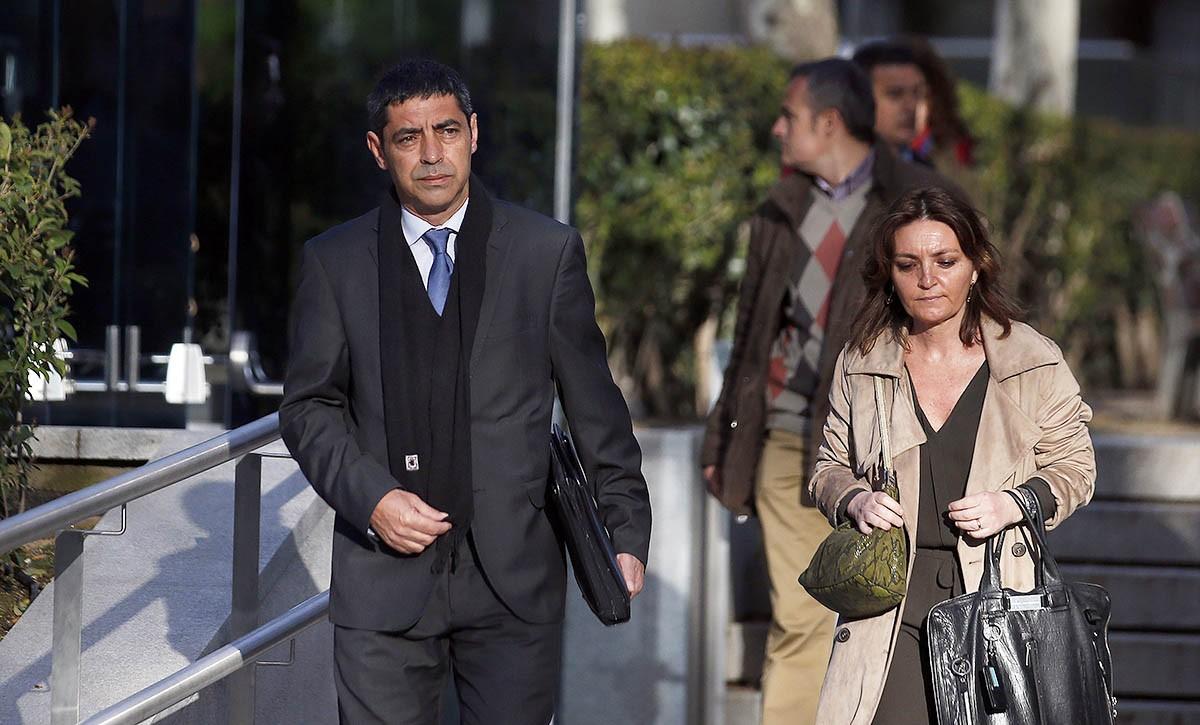 Josep Lluís Trapero, entrant a l'Audiència Nacional