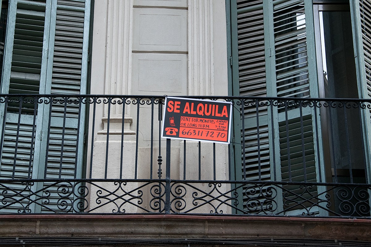 Un pis en lloguer al centre de Barcelona