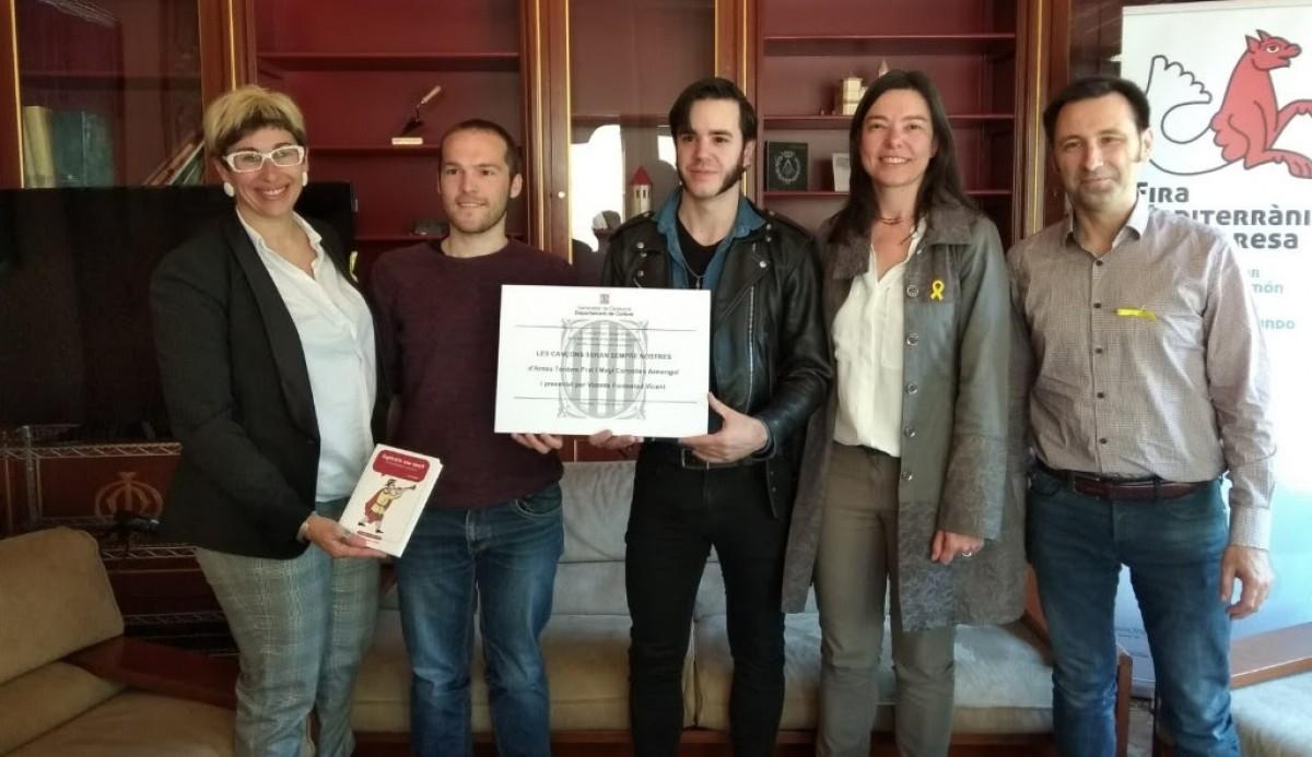 Anna Crespo, Magí Canyelles, Arnau Tordera, M. Àngels Blasco i David Ibáñez