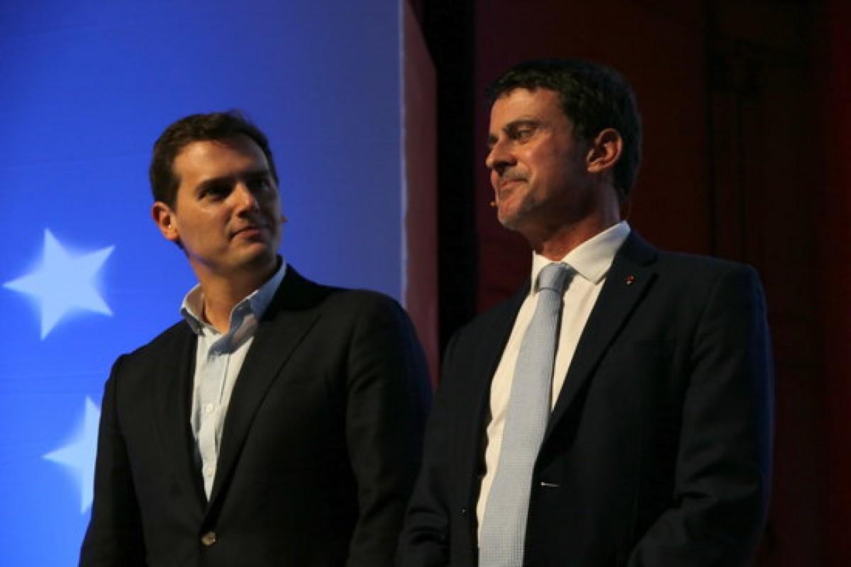 Manuel Valls en un acte de Ciutadans.