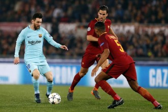 El Barça s'enfonsa a Roma (3-0)