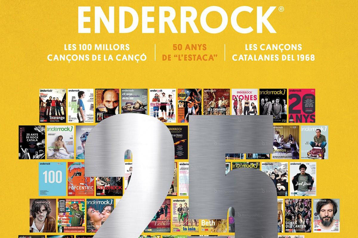 Portada del número especial dels 25 anys d'Enderrock