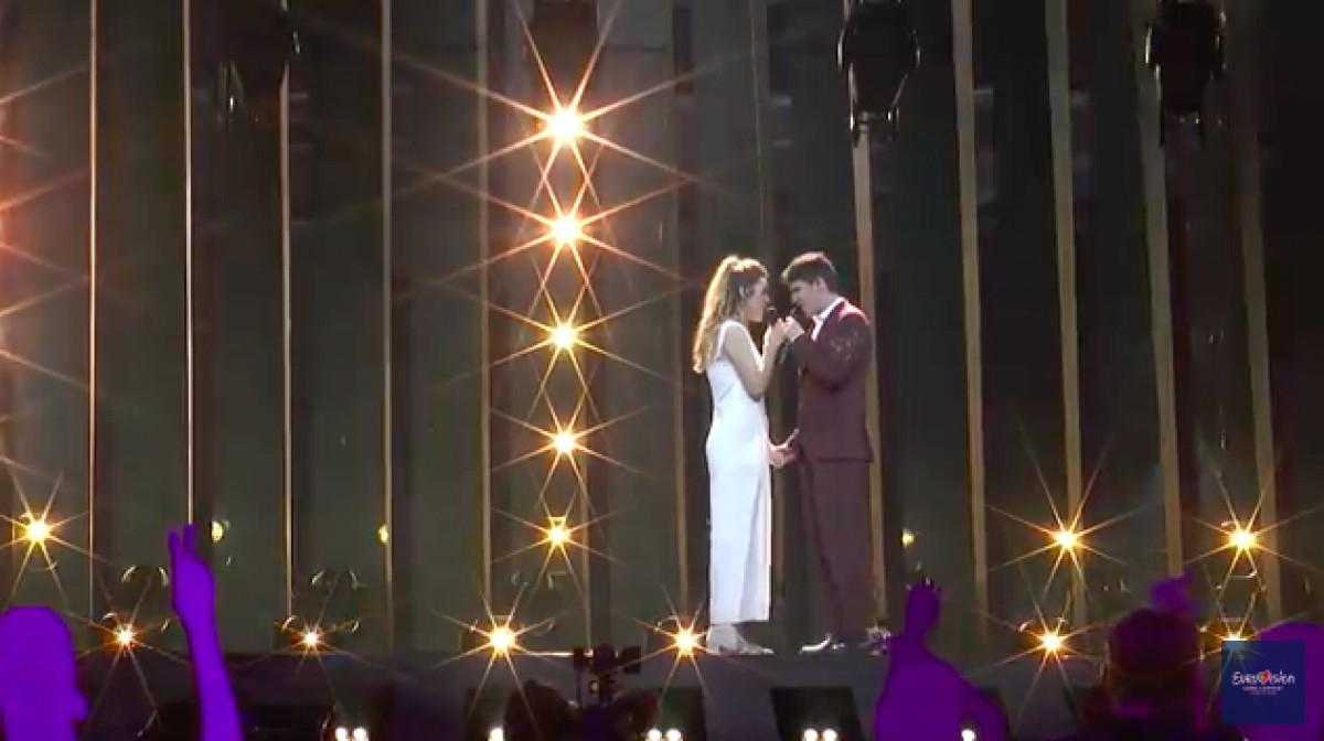 Amaia i Alfred al primer assaig d'Eurovisión