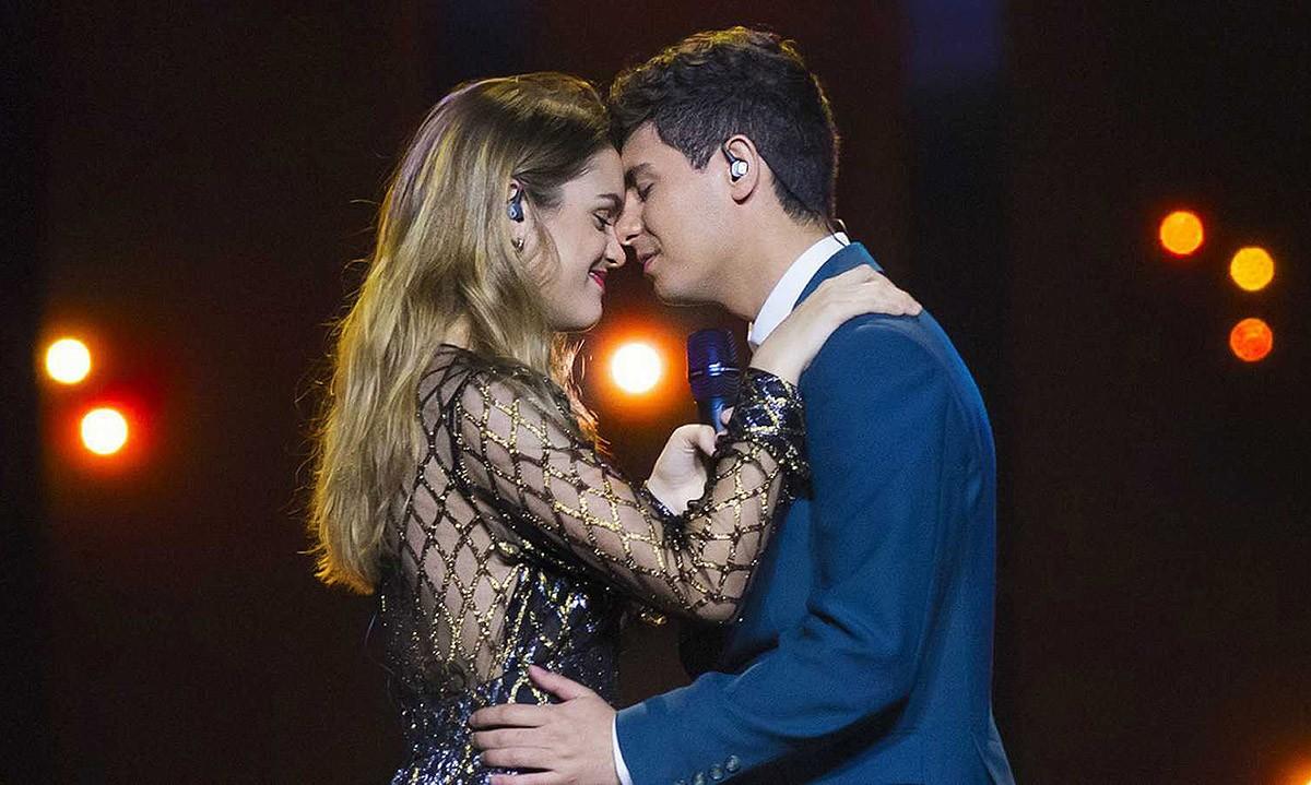 Amaia i Alfred, en els assaigs d'Eurovisió 2018
