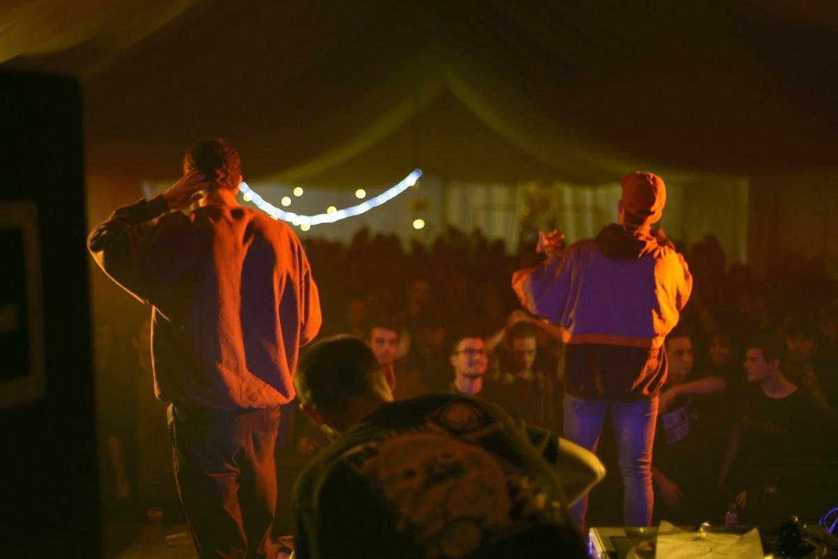 Homes Llúdriga durant un dels seus concerts