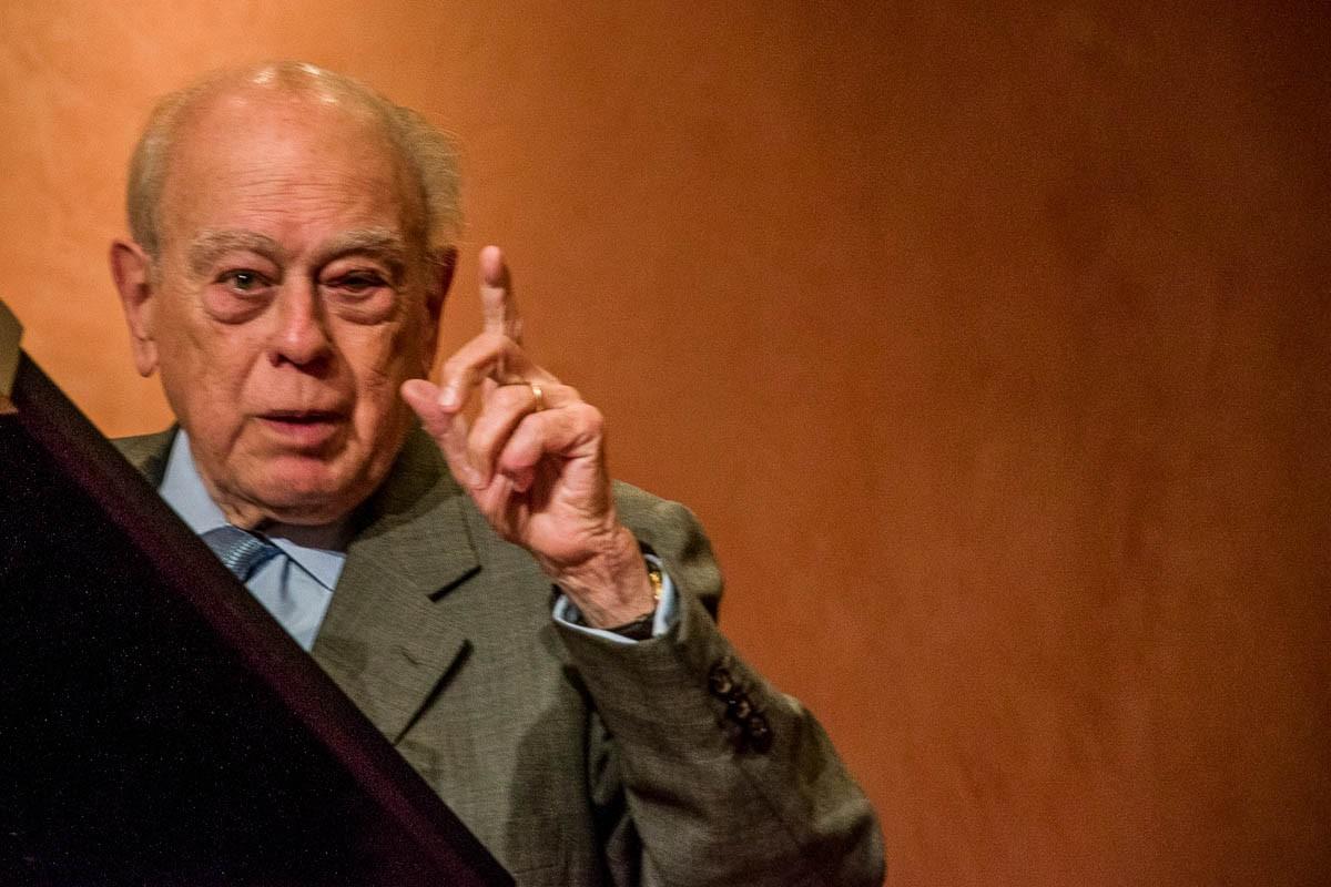 Jordi Pujol, en una de les últimes intervencions públiques.