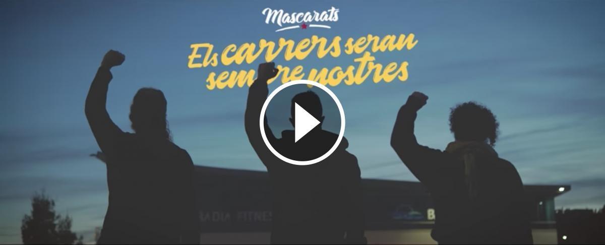 Fotograma del videoclip de Mascarats