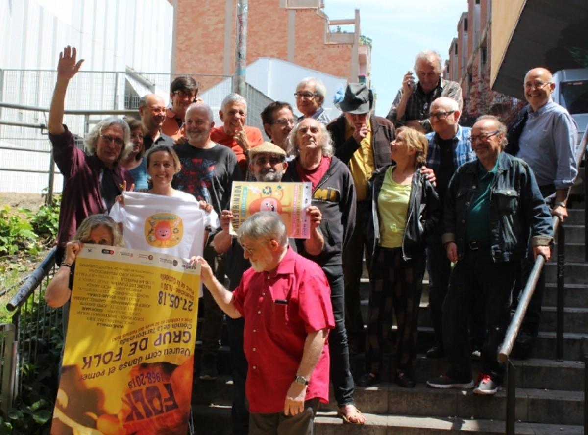 Els participants de la reunió del Grup de Folk, al C.A.T. de Gràcia