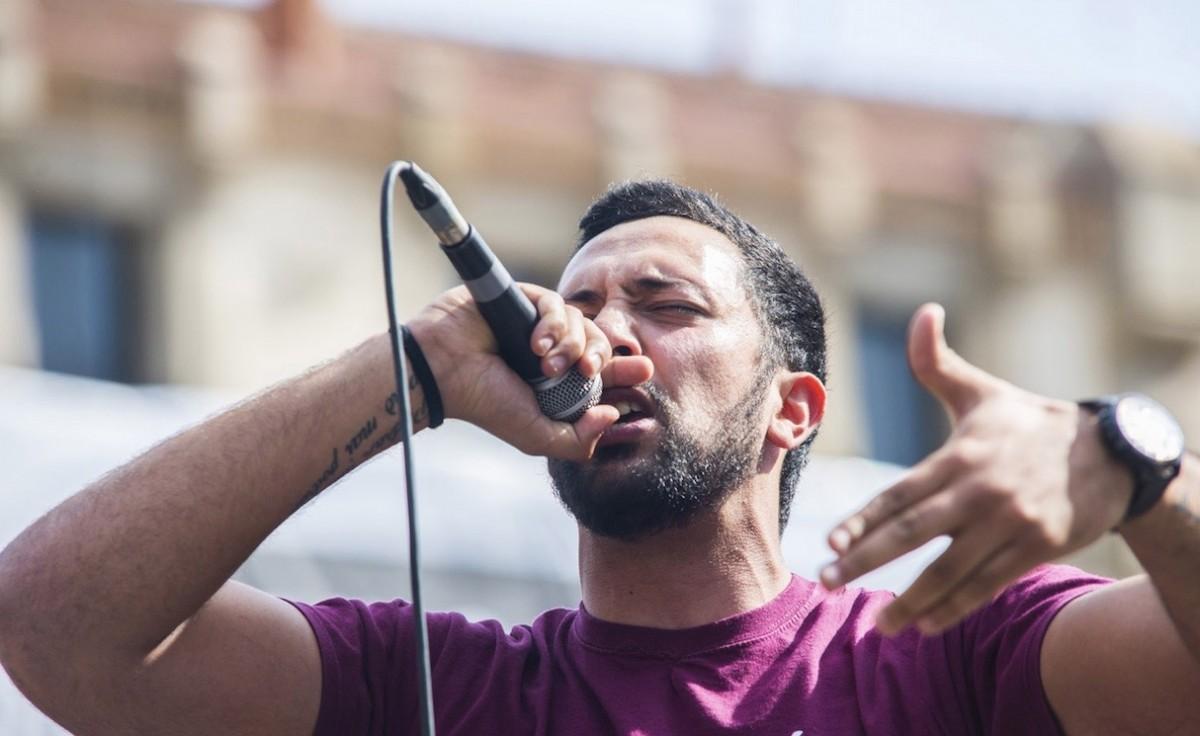 Valtonyc al concert No Callarem a la presó Model de Barcelona