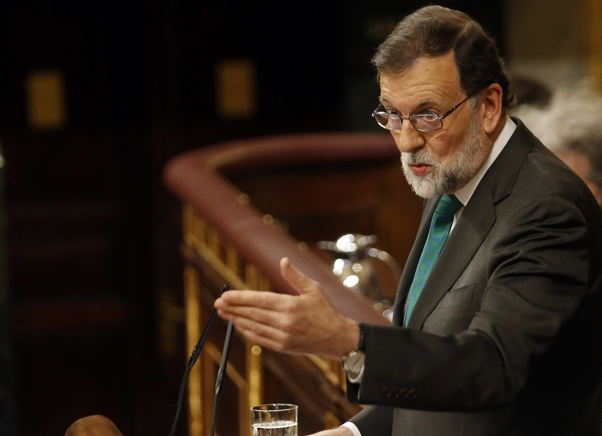 Mariano Rajoy, durant la moció de censura