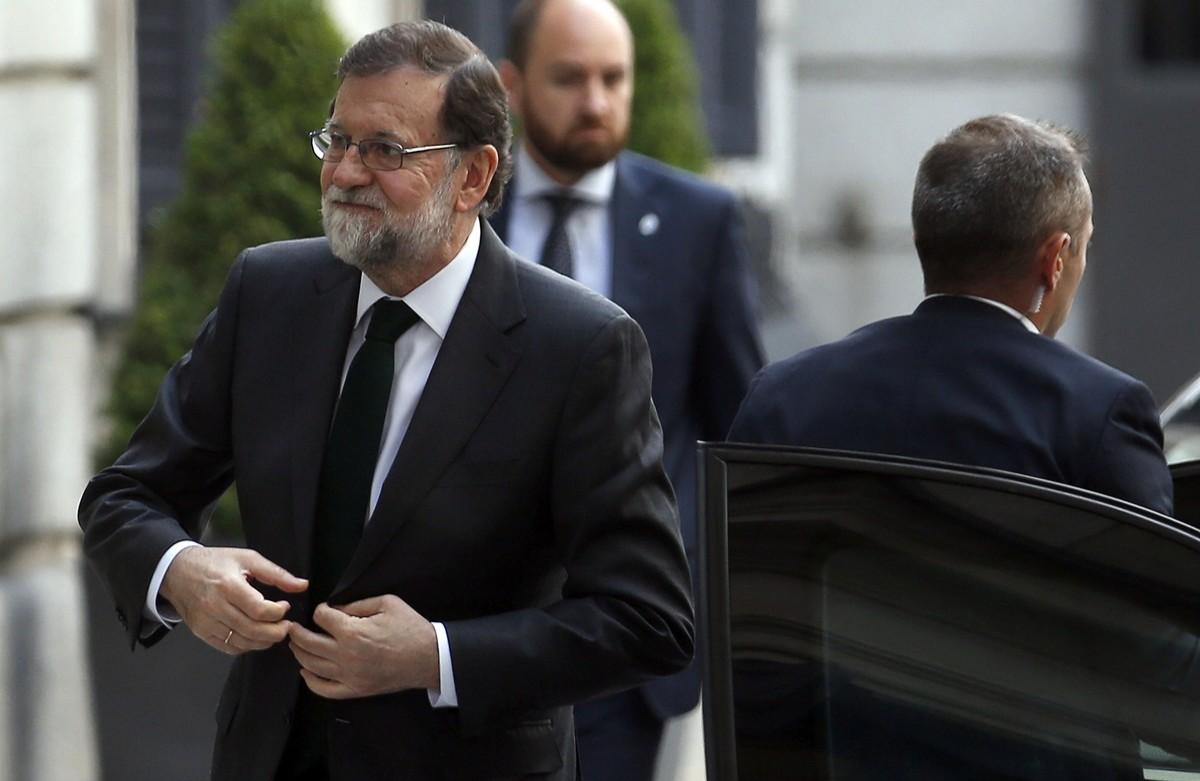 Mariano Rajoy, en una de les seves últimes imatges al Congrés