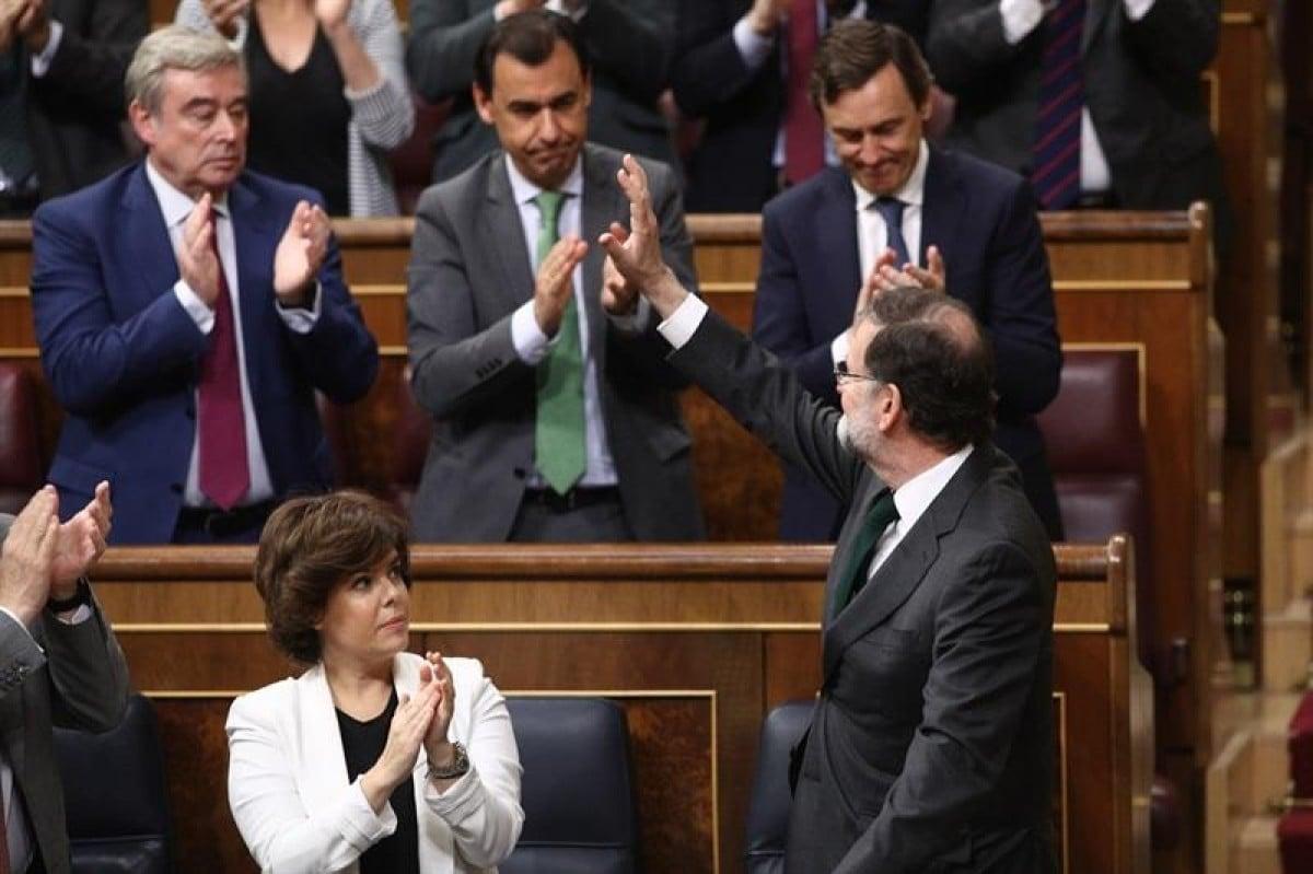 Mariano Rajoy s'acomiada dels diputats del PP