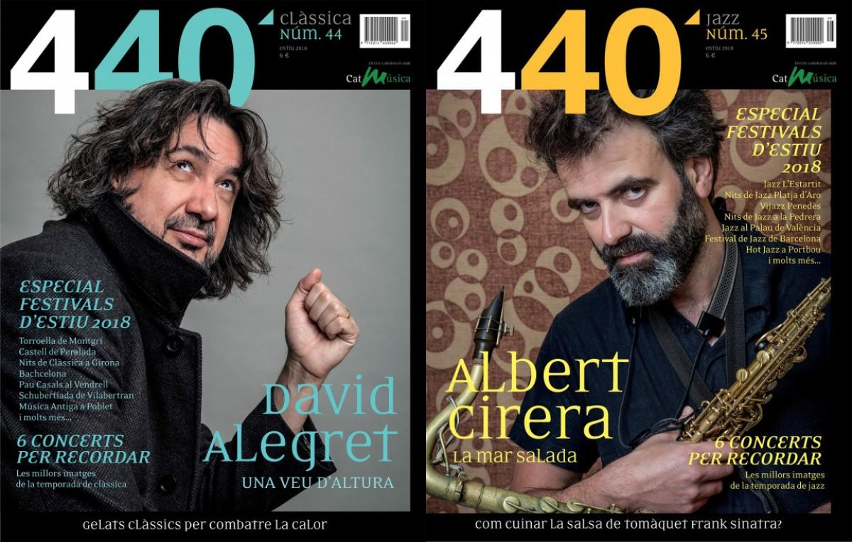 Portades del número doble (44 i 45) de la revista '440Clàssica&Jazz'