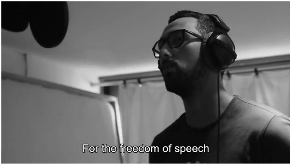 Valtonyc en l'enregistrament de la cançó