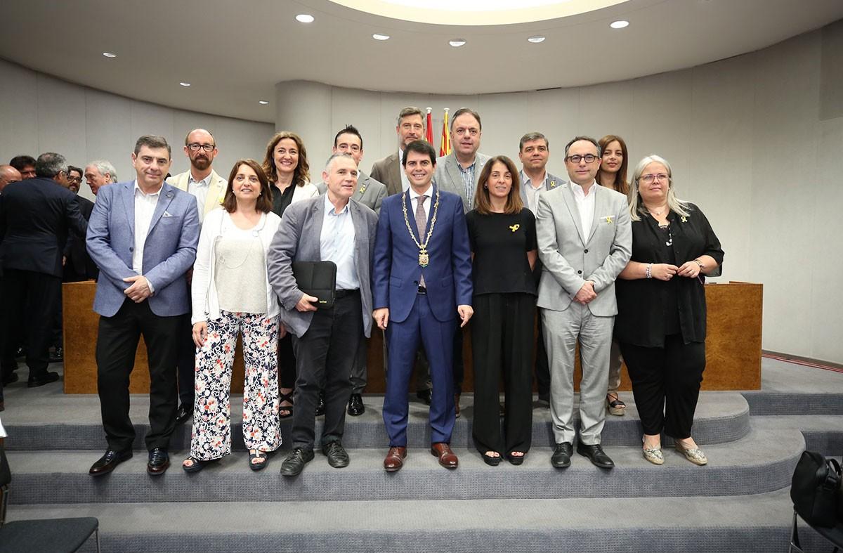 El grup de Convergència i Unió sortint de la Diputació de Barcelona