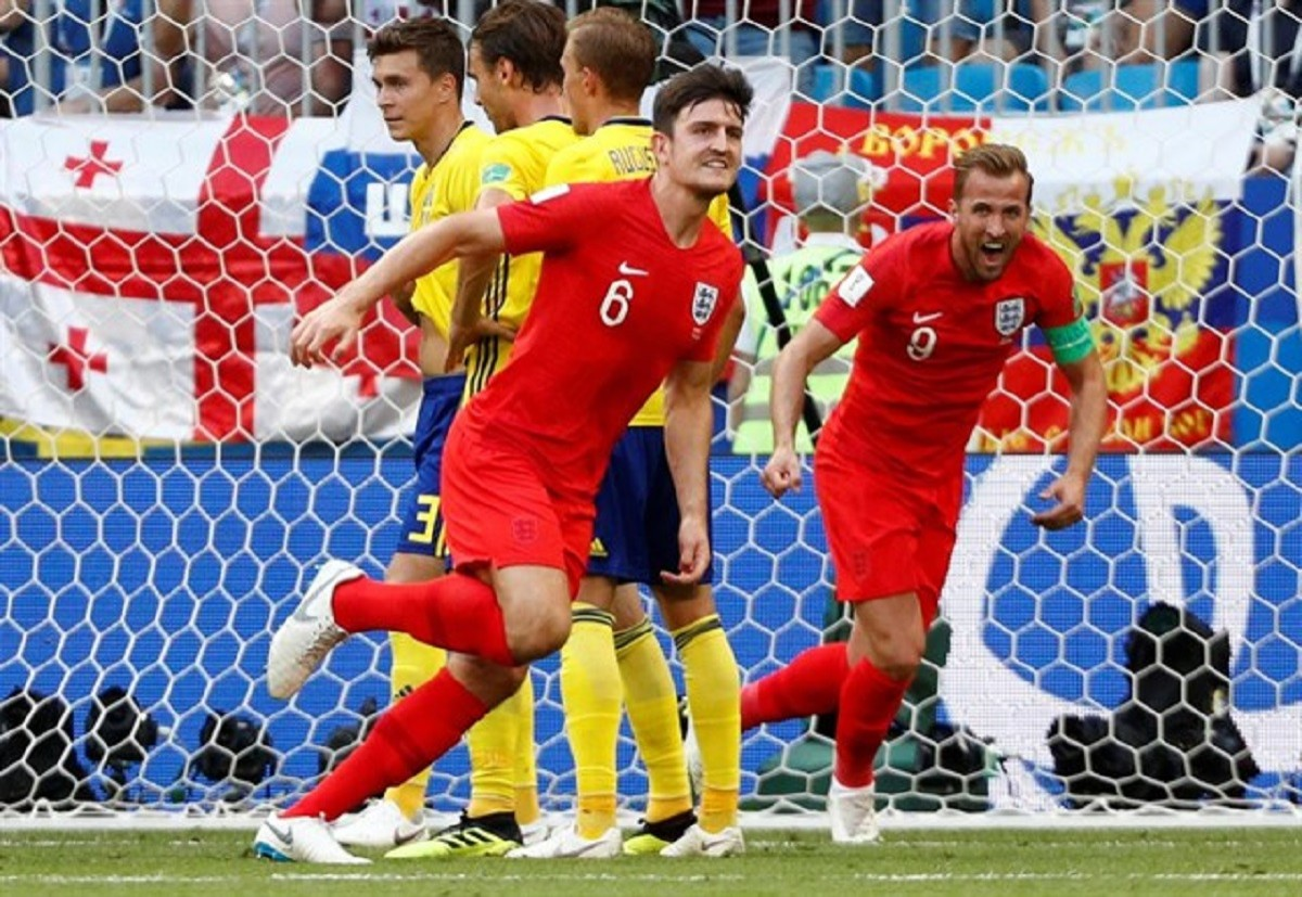 Un dels gols d'Anglaterra que van eliminar Suècia