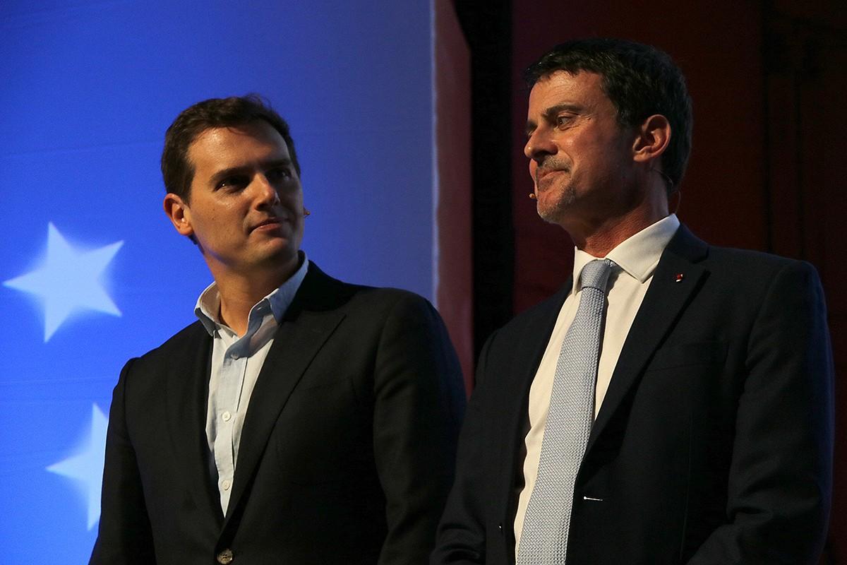 Albert Rivera i Manuel Valls en un acte de Ciutadans.