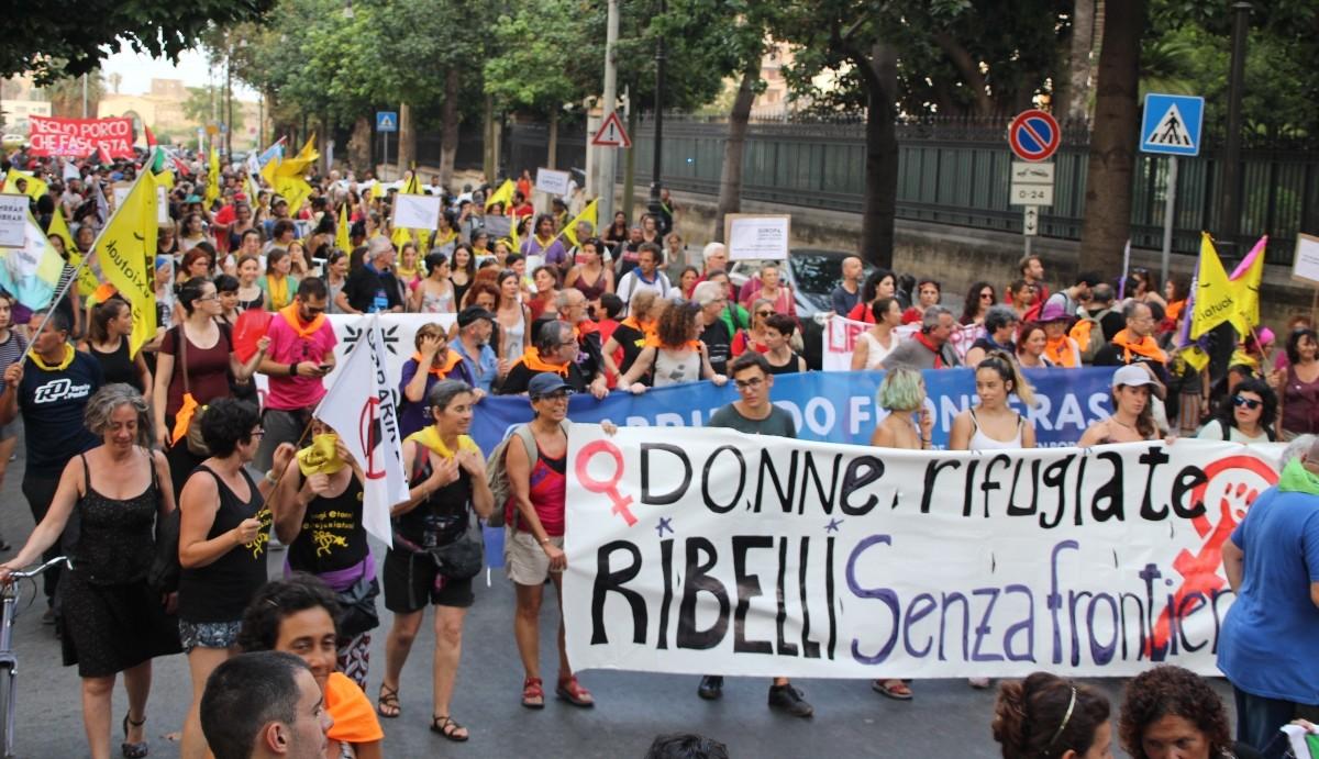 Manifestació conjunta a Palerm