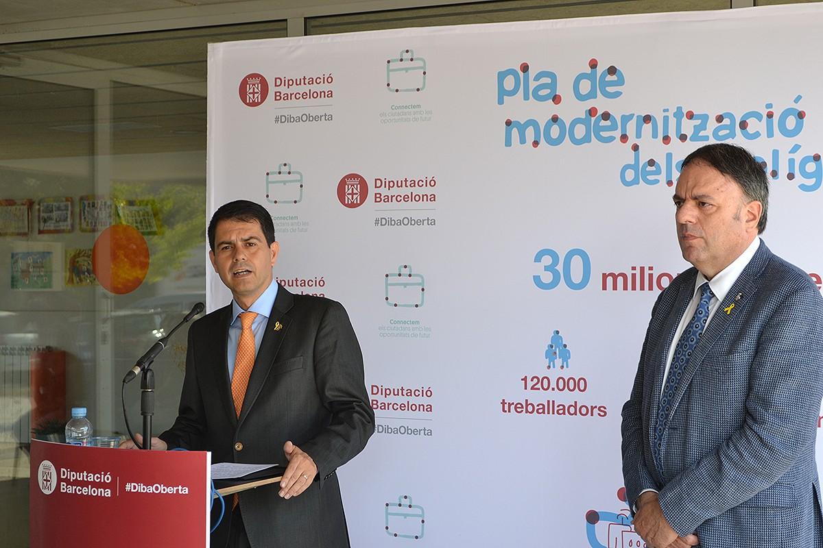 El president de la Diputació, Marc Castells, explica el Pla de Modernització de Polígons