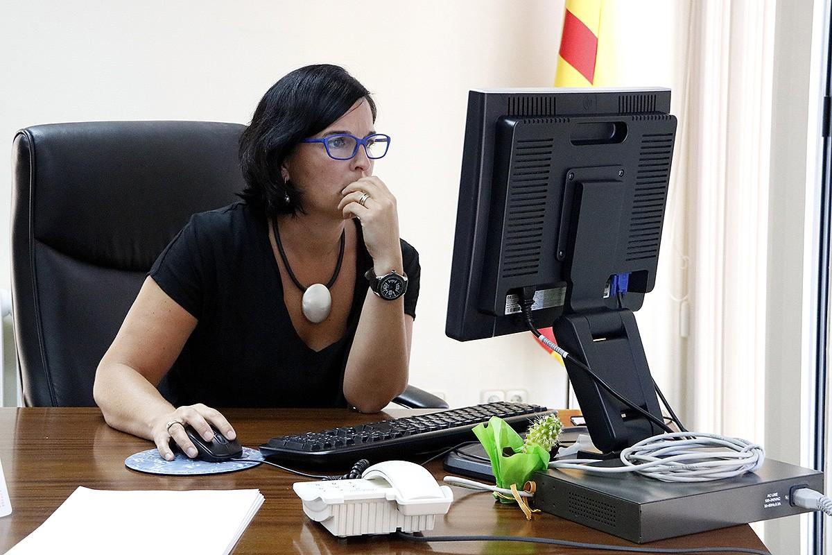 Anna Franquesa, al seu despatx