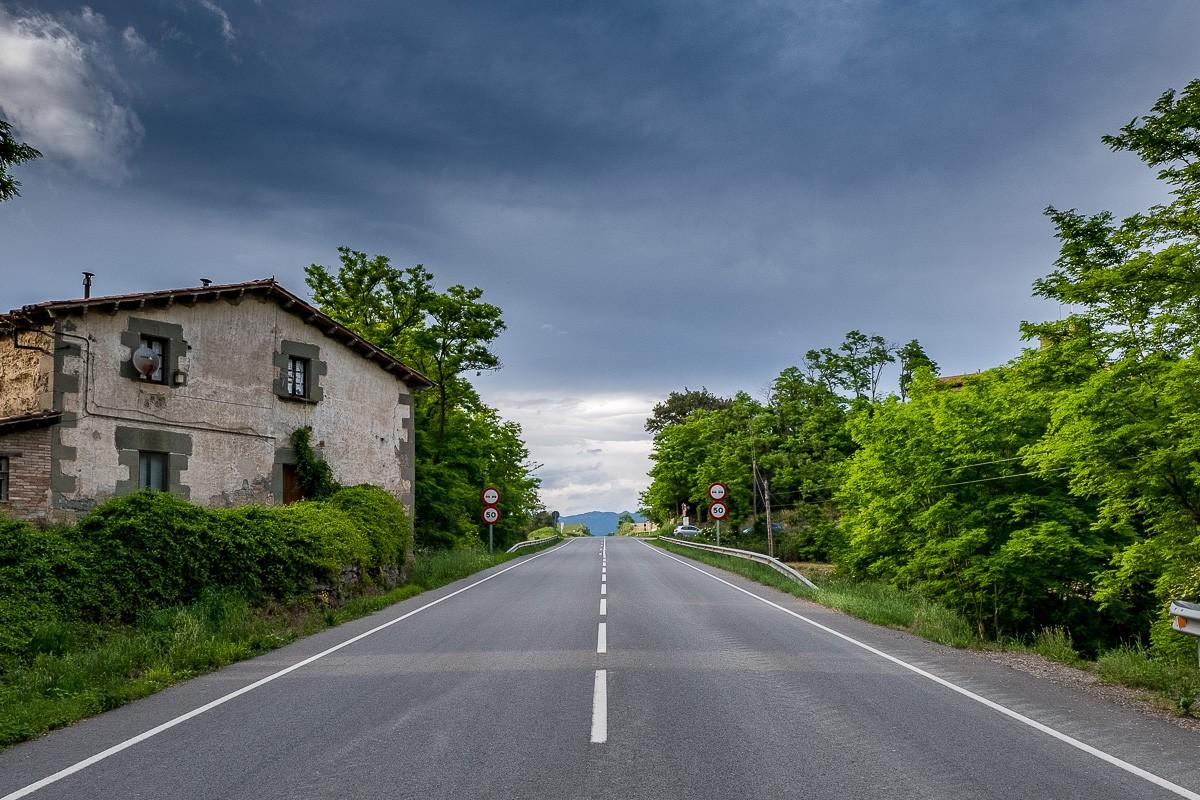 La carretera de Vic a Manlleu