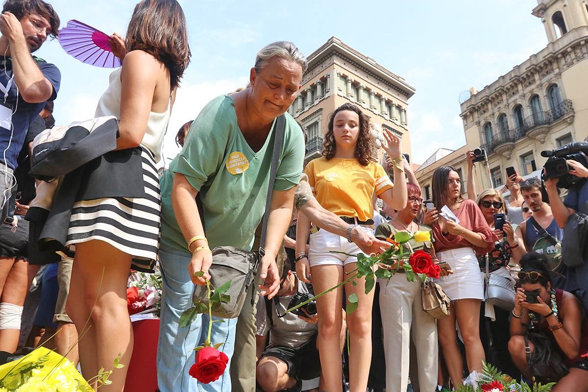 Commemoració de l'any dels atemptats del 17-A.