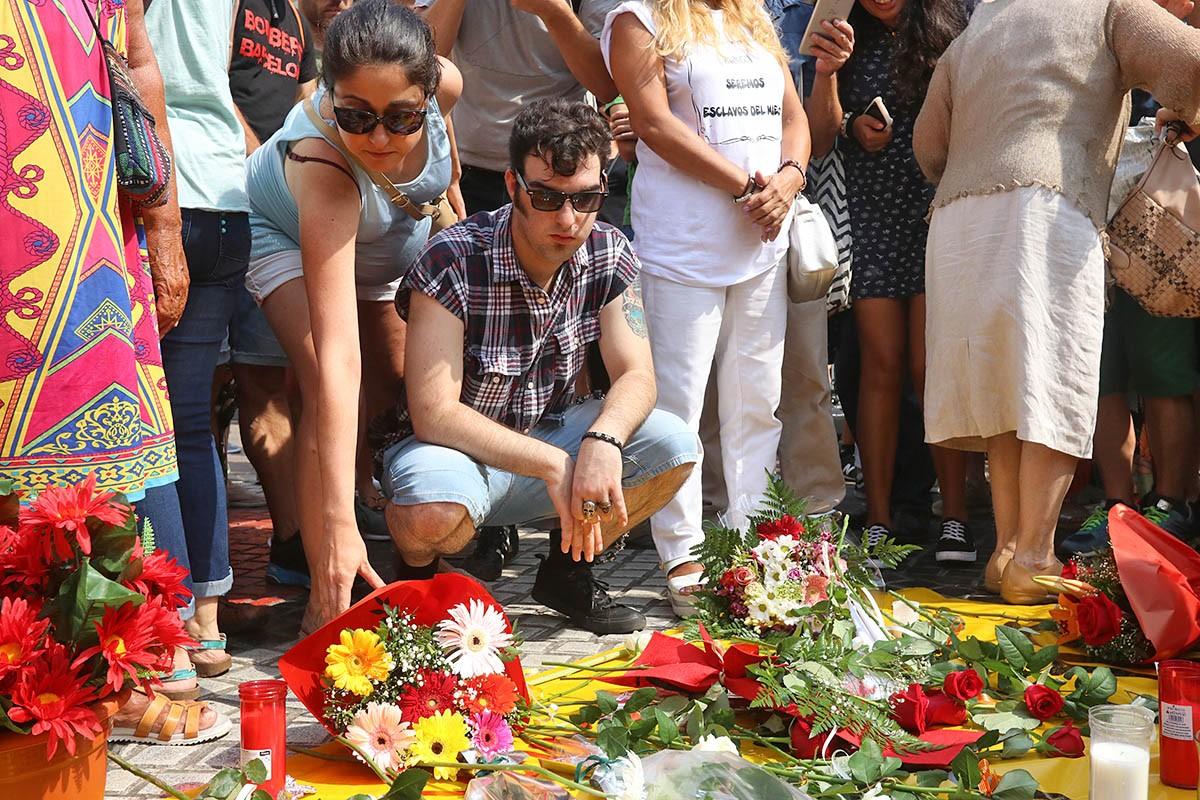 Commemoració, el dia que feia un any dels atemptats del 17-A