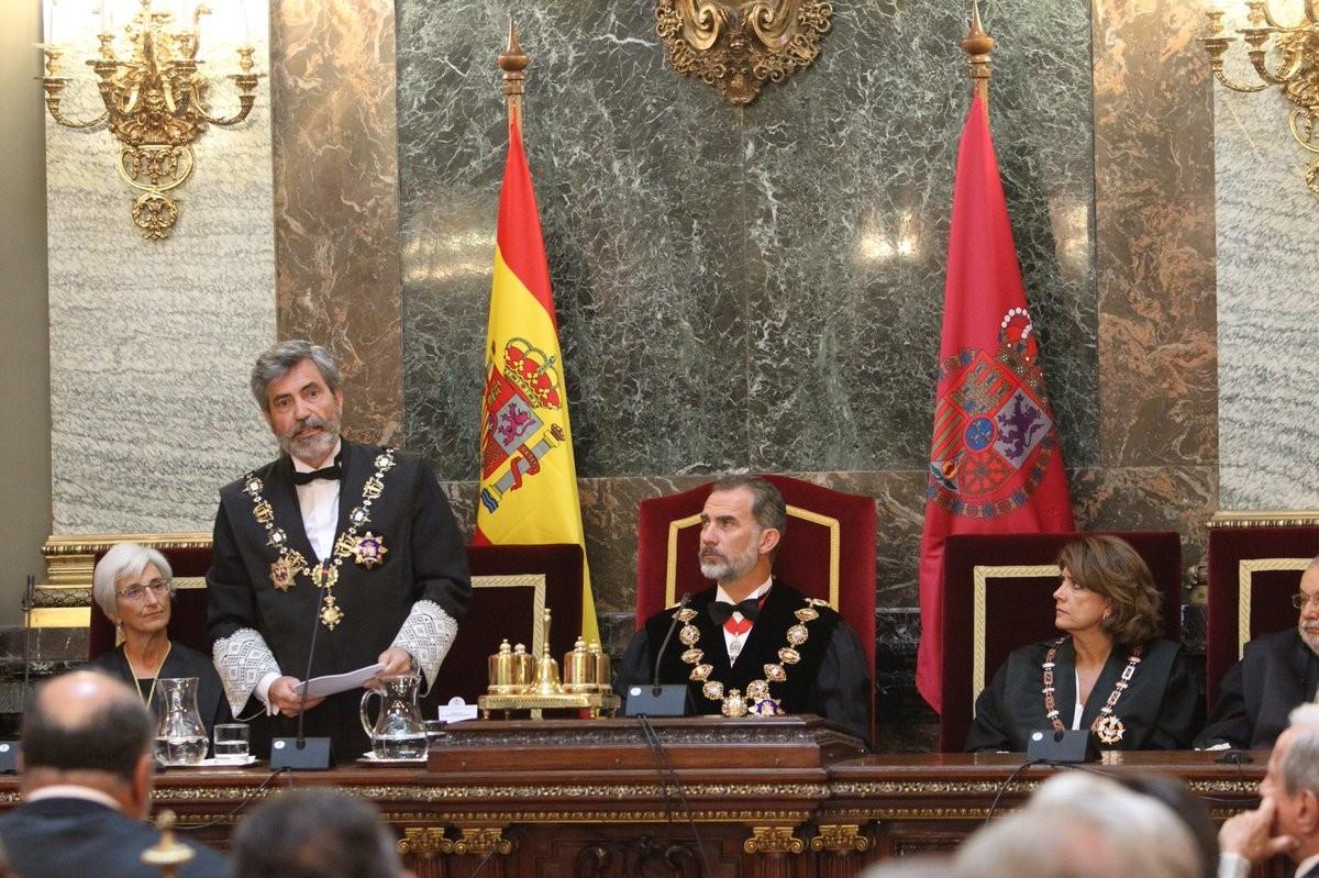 Felip VI i Carlos Lesmes, en una imatge d'arxiu