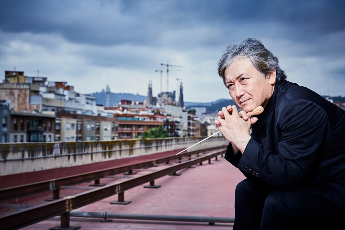 Kazushi Ono, a la teulada de L'Auditori de Barcelona