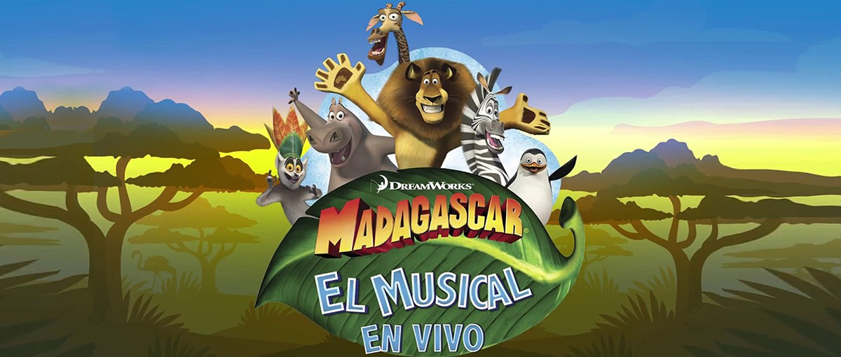 Cartell promocional del musical familiar «Madagascar»