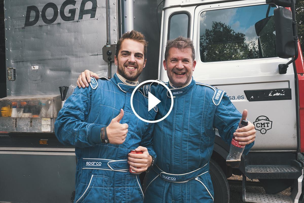 Axel Coronado i Oriol Gómez en el test previ al RallyRACC