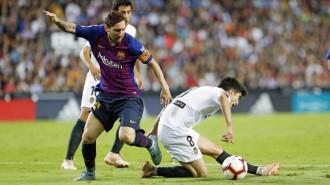 El Barça deixa escapar el lideratge a Mestalla (1-1)