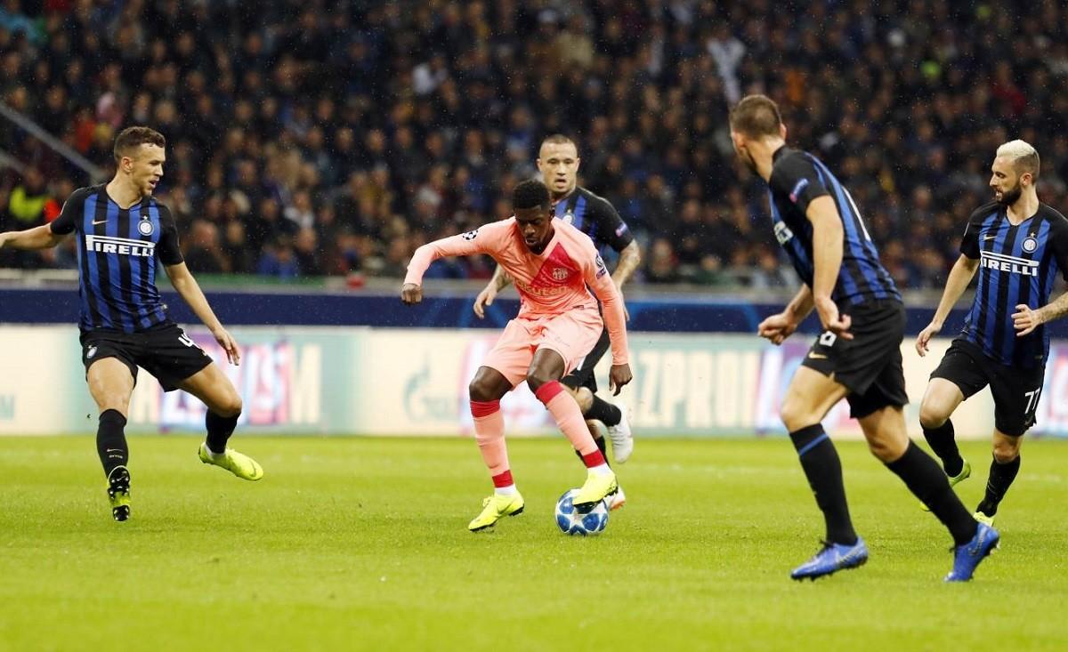 Dembélé contra l'Inter de Milà.