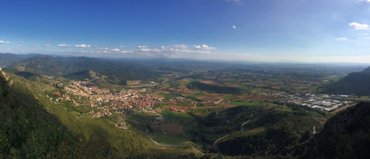 Imatge panoràmica de Berga i del Polígon de la Valldan.
