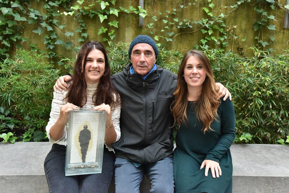 Sommeliers amb Lluís Llach recollint el premi Miquel Martí i Pol, Terra i Cultura 2018