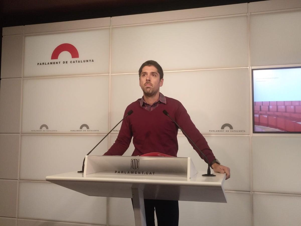 El diputat de Catalunya en Comú Podem David Cid.