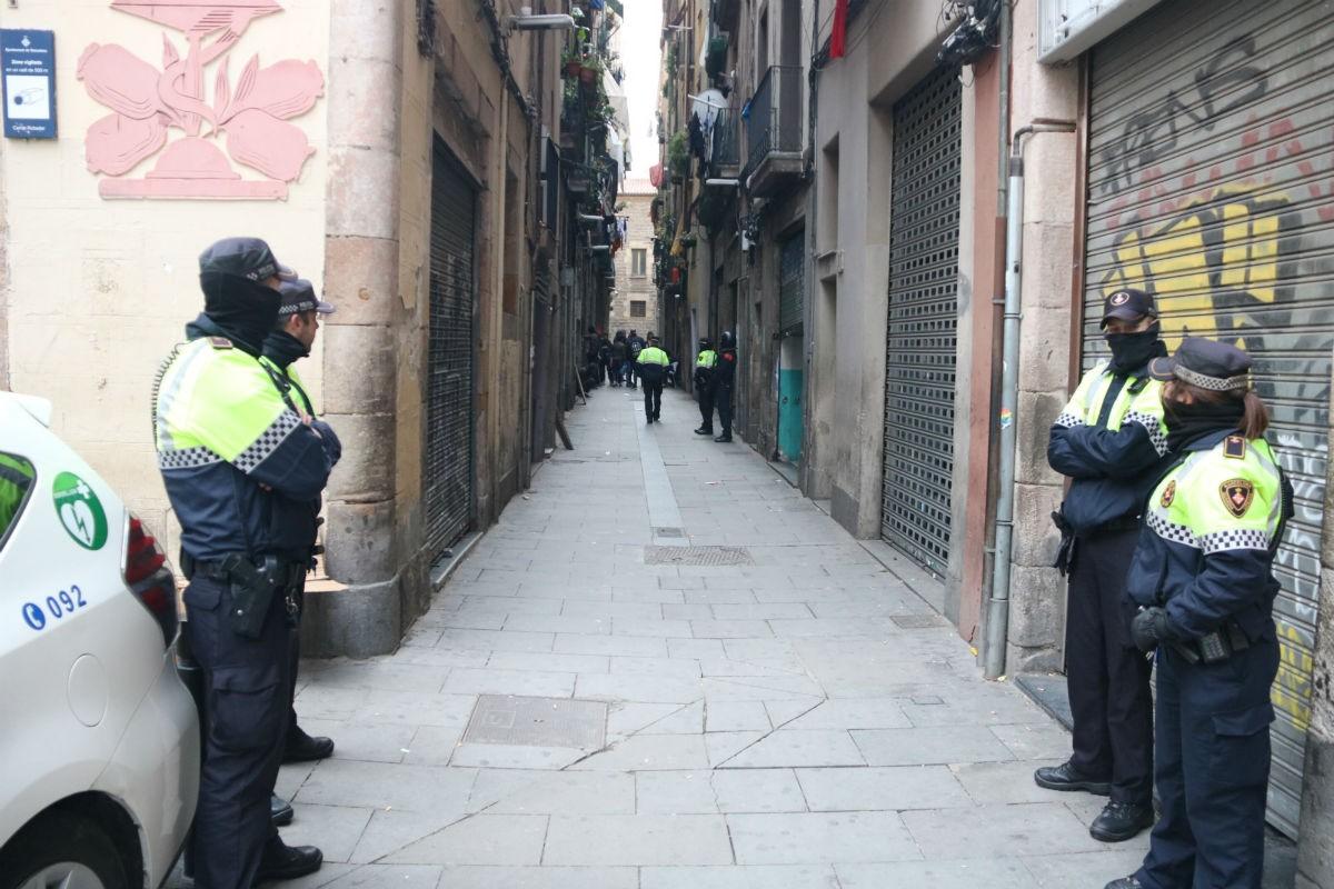 Una operació policial contra el narcotràfic a Barcelona