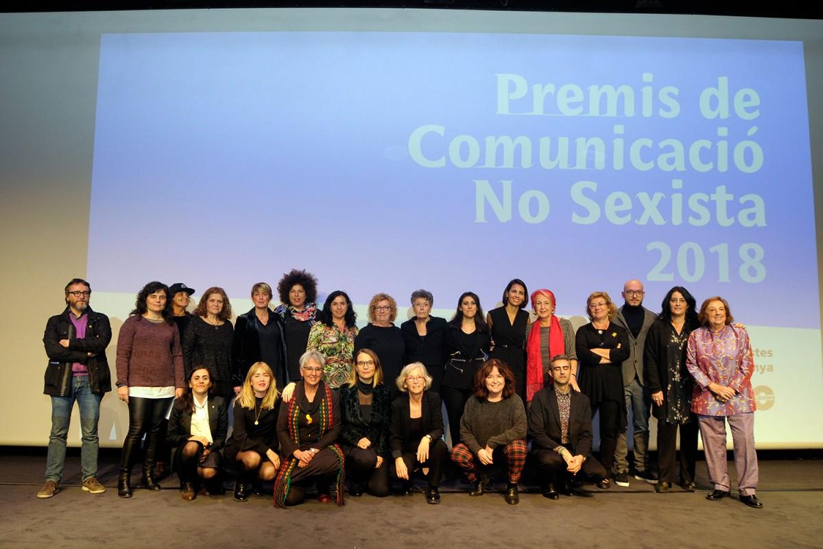 Premiades a la gala dels XXV Premis de l'Associació de Dones Periodistes de Catalunya